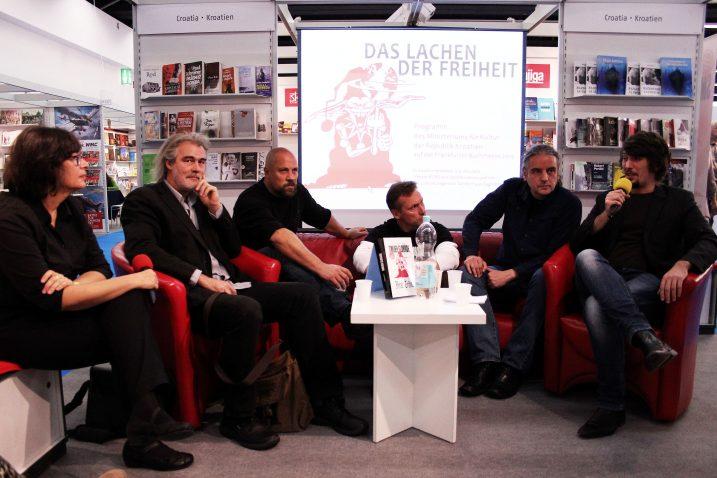Alida Bremer, Ivančić, Dežulović, Pavelić, Lucić i moderator Danijel Majić / Foto L. TOMIČIĆ