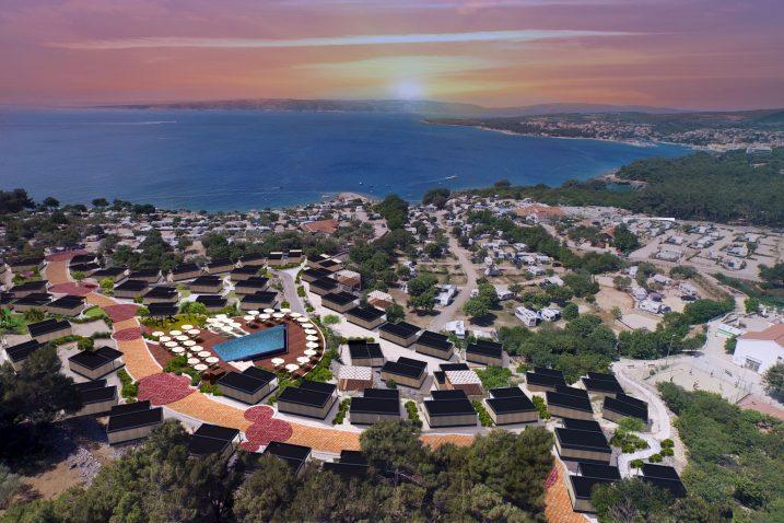 Vizualizacija »Bella Vista Premium Villagea«  koji će do sezone niknuti unutar kampa »Krk«