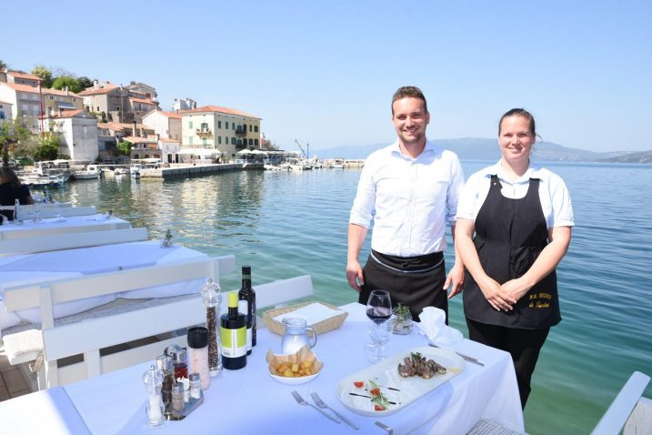 """Restoran """"Na moru - Giordano"""". Vlasnici Ivan i Martina Krivičić"""