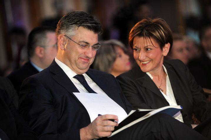 Andrej Plenković i Martina Dalić, Foto: D. KOVAČEVIĆ