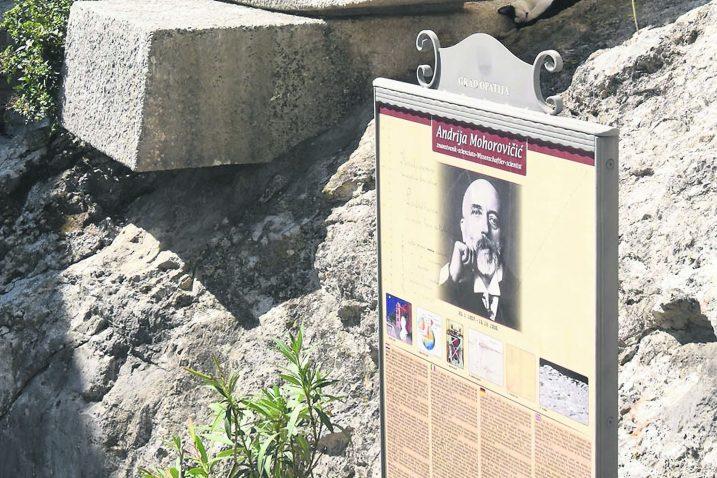 Ime vološćanskog genijalca Andrije Mohorovičića nosi ploha smještena između Zemljine kore i gornjega plašta (Moho sloj), krater na Mjesecu te asteroid / Foto Marin ANIČIĆ