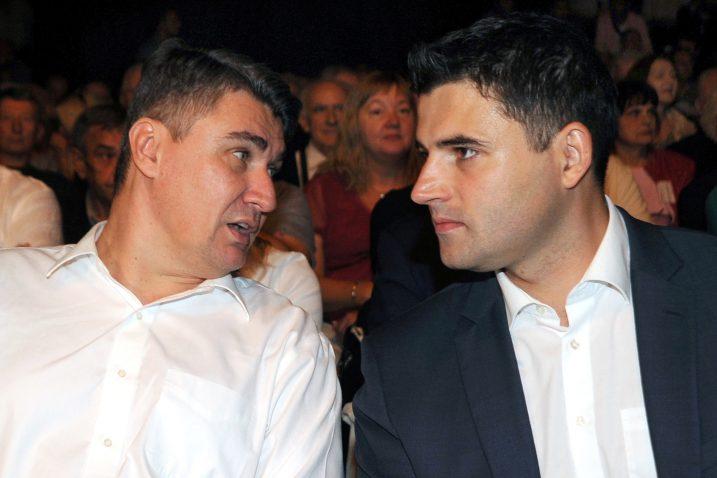 Zoran Milanović i Davor Bernardić / Foto: D. JELINEK