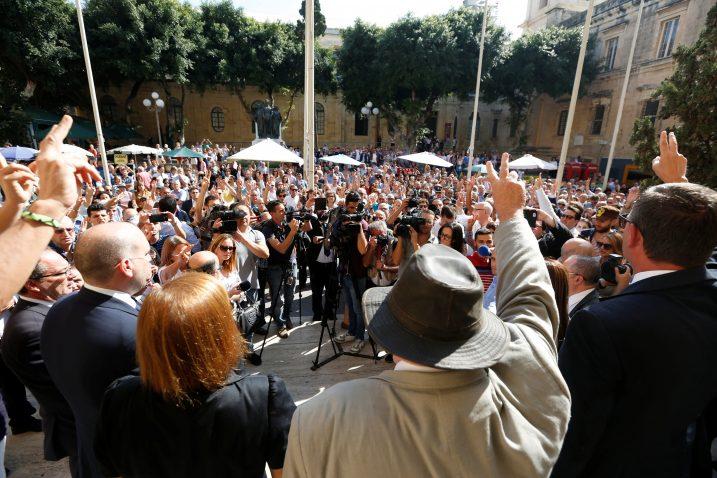 Prosvjed nakon ubojstva novinarke / Reuters