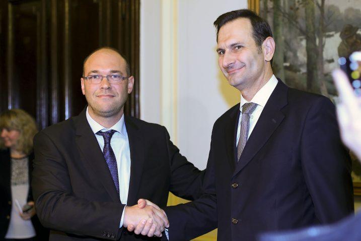Davor Ivo Stier i Miro Kovač / Photo: Jurica Galoic/PIXSELL