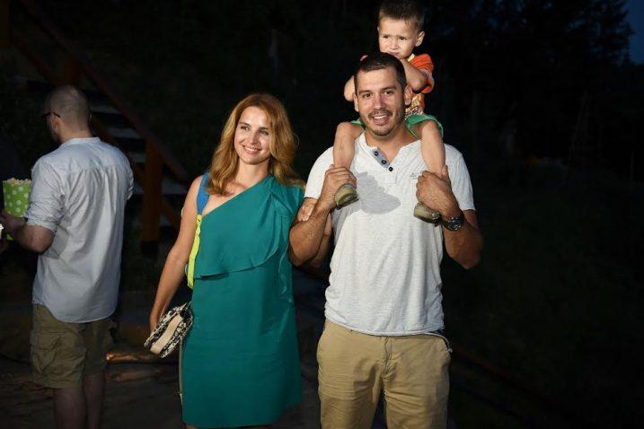 Doris Piničić Rogoznica sa suprugom i sinom