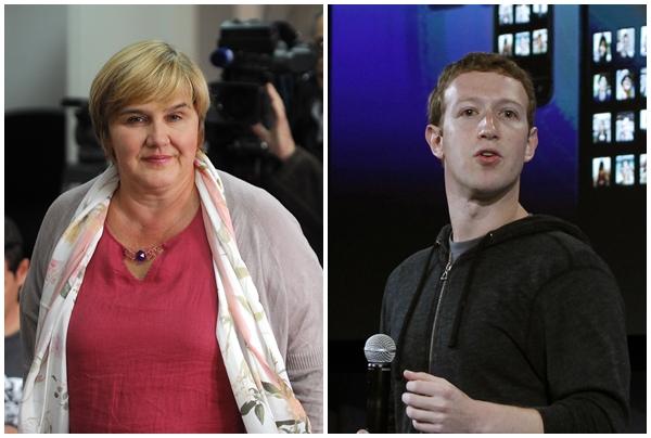 Željka Markić, Mark Zuckerberg / Foto: Novi list. REUTERS