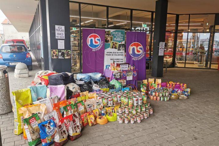 Akcija prikupljanja hrane i novca za pse i mačke / Foto Reformisti Kastav