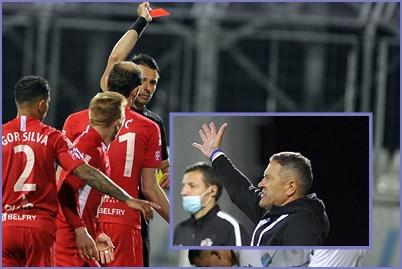 Sudac Pajač, ljutiti Osječani i trener Ivica Kulešević/Foto Arhiva NL