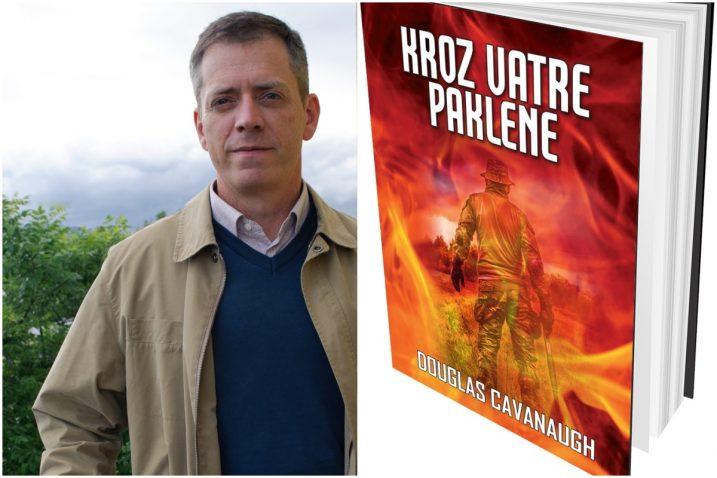 Douglas Cavanaugh i naslovnica njegova romana