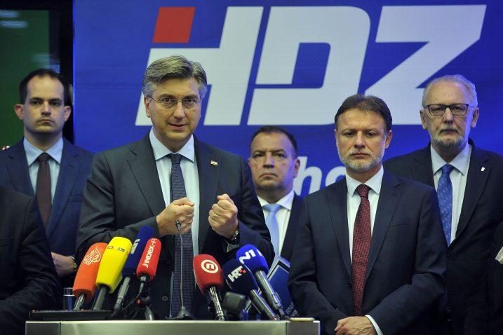 Andrej Plenković i vodstvo HDZ-a / Foto: D. KOVAČEVIĆ