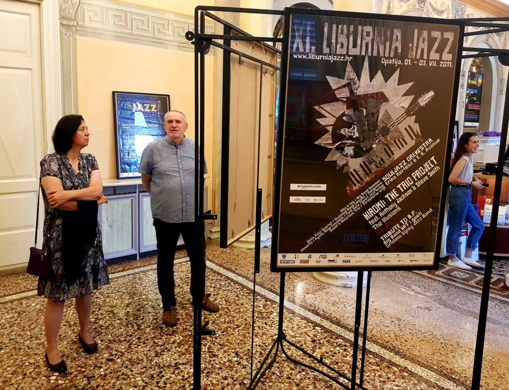 Izložba plakata Liburnia Jazz Festivala / Snimio Marko GRACIN