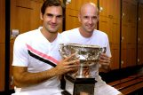 Roger Federer i Ivan poslije trijumfa na Australian Openu 2018./Foto REUTERS