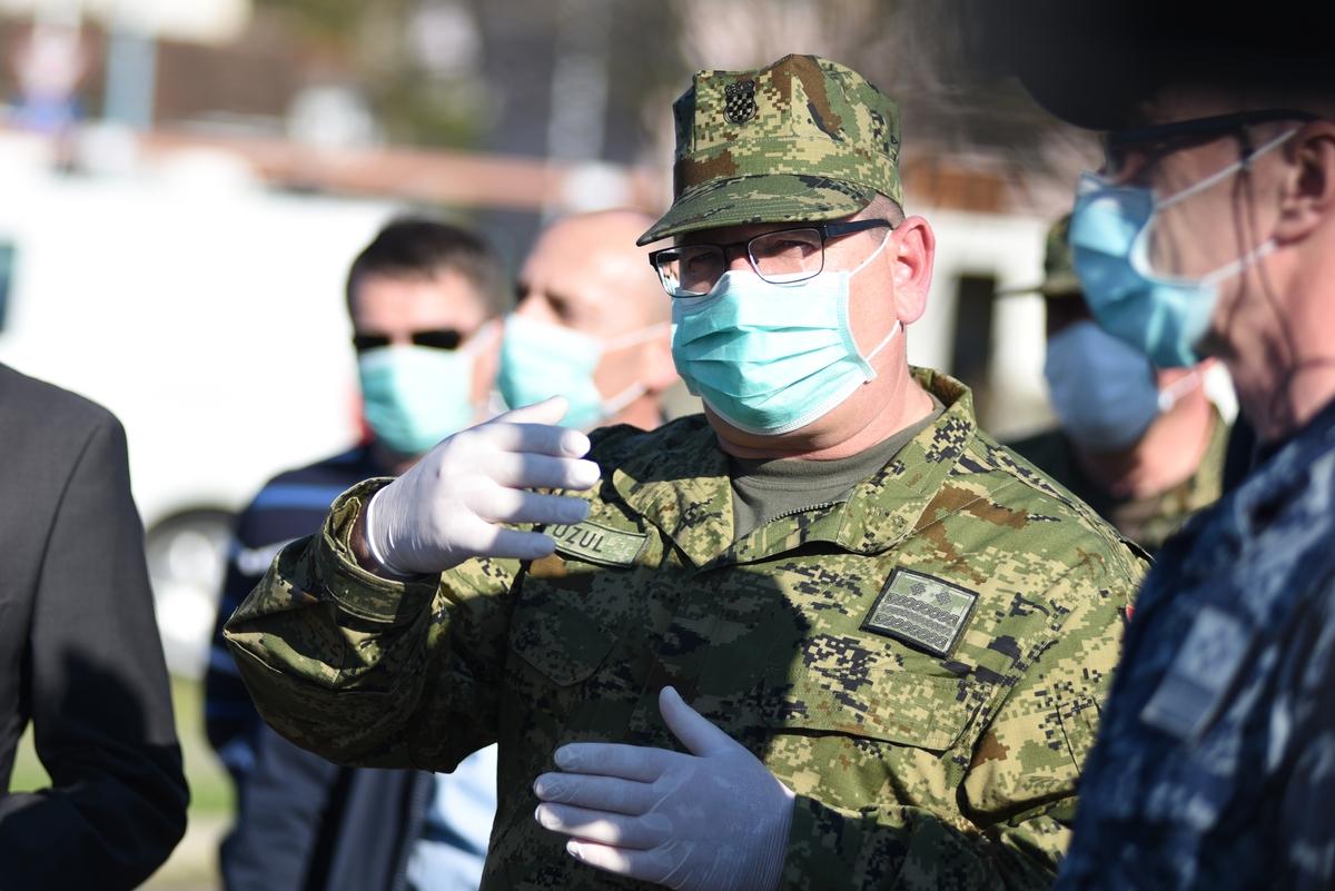 General Mladen Fuzul pred KB Dubrava / Foto MORH