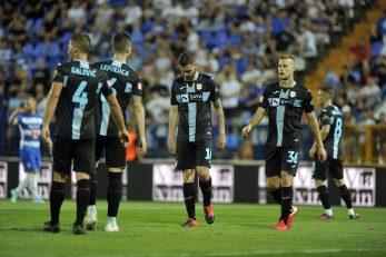 Galović, Lepinjica, Velkovski, Smolčić i Halilović nakon utakmice u Gradskom vrtu/D. KOVAČEVIĆ