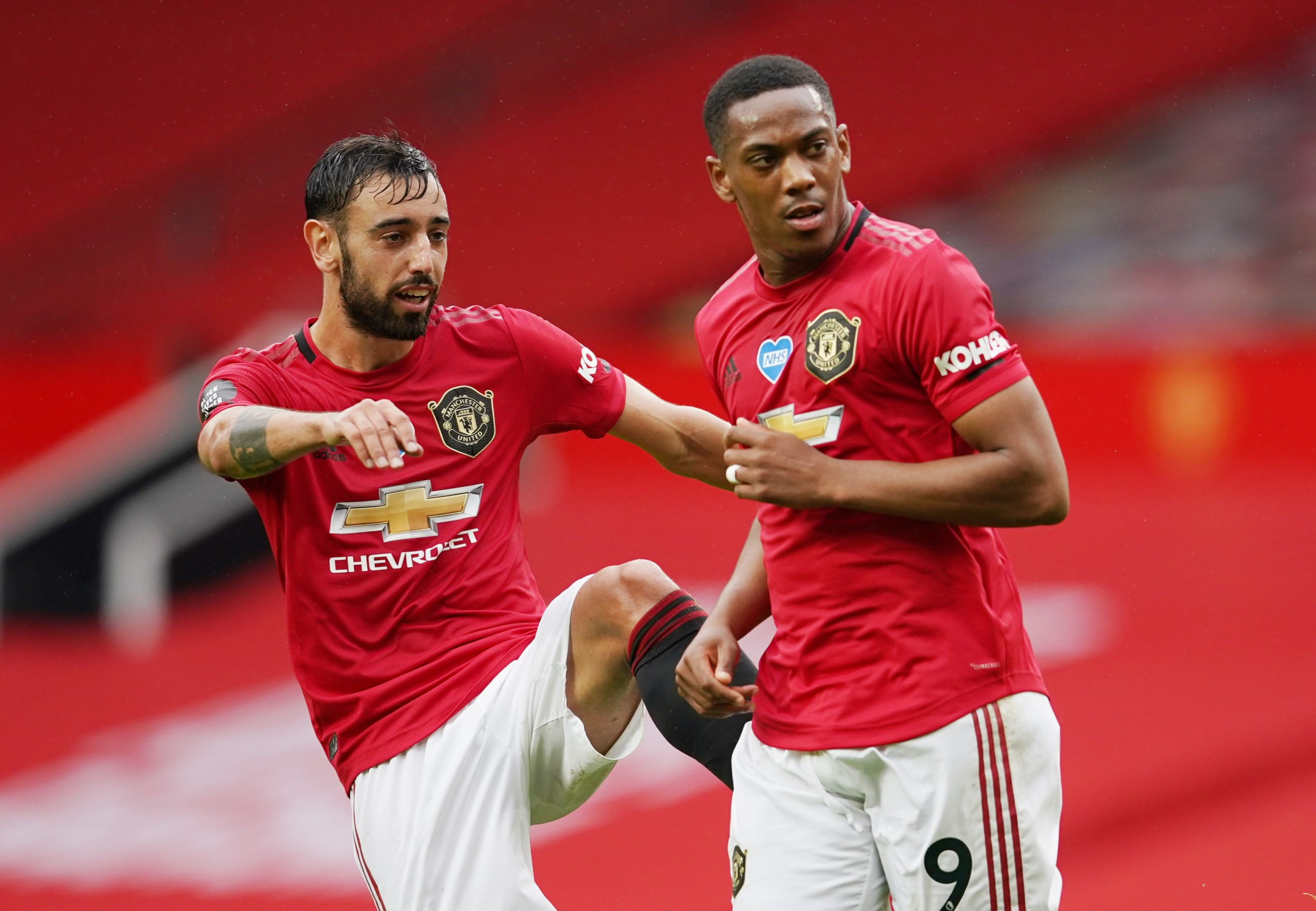 Anthony Martial i Bruno Fernandes (Manchester United)/Foto REUTERS