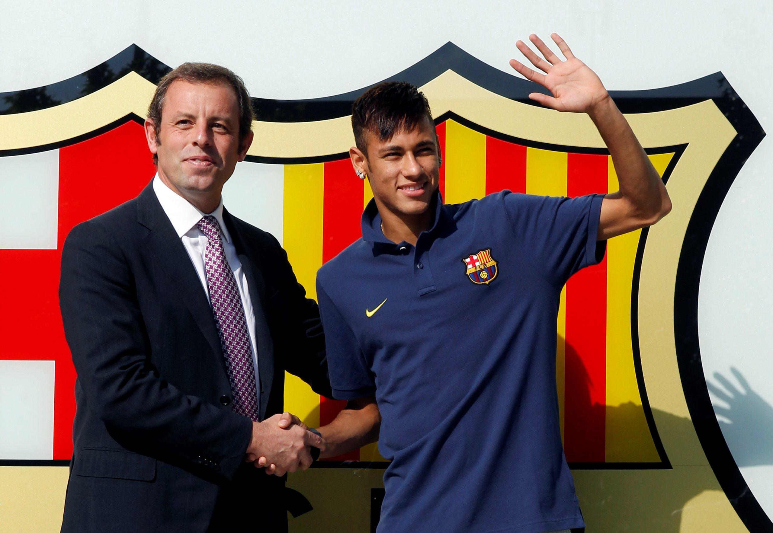 Sandor Rosell i Neyamar 2013. godine nakon potpisa ugovora za Barcelonu/Foto REUTERS