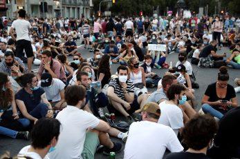 Prosvjed u Beogradu / Reuters