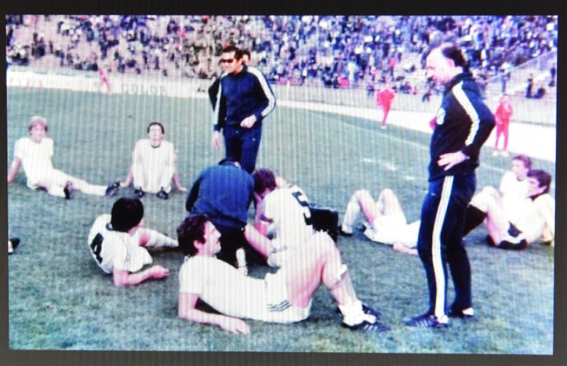 Podrška- Hamid Gačanin i Dragutin Spasojević ohrabruju igrače Rijeke uoči produžetaka u finalu Kupa Maršala Tita 1978. godine
