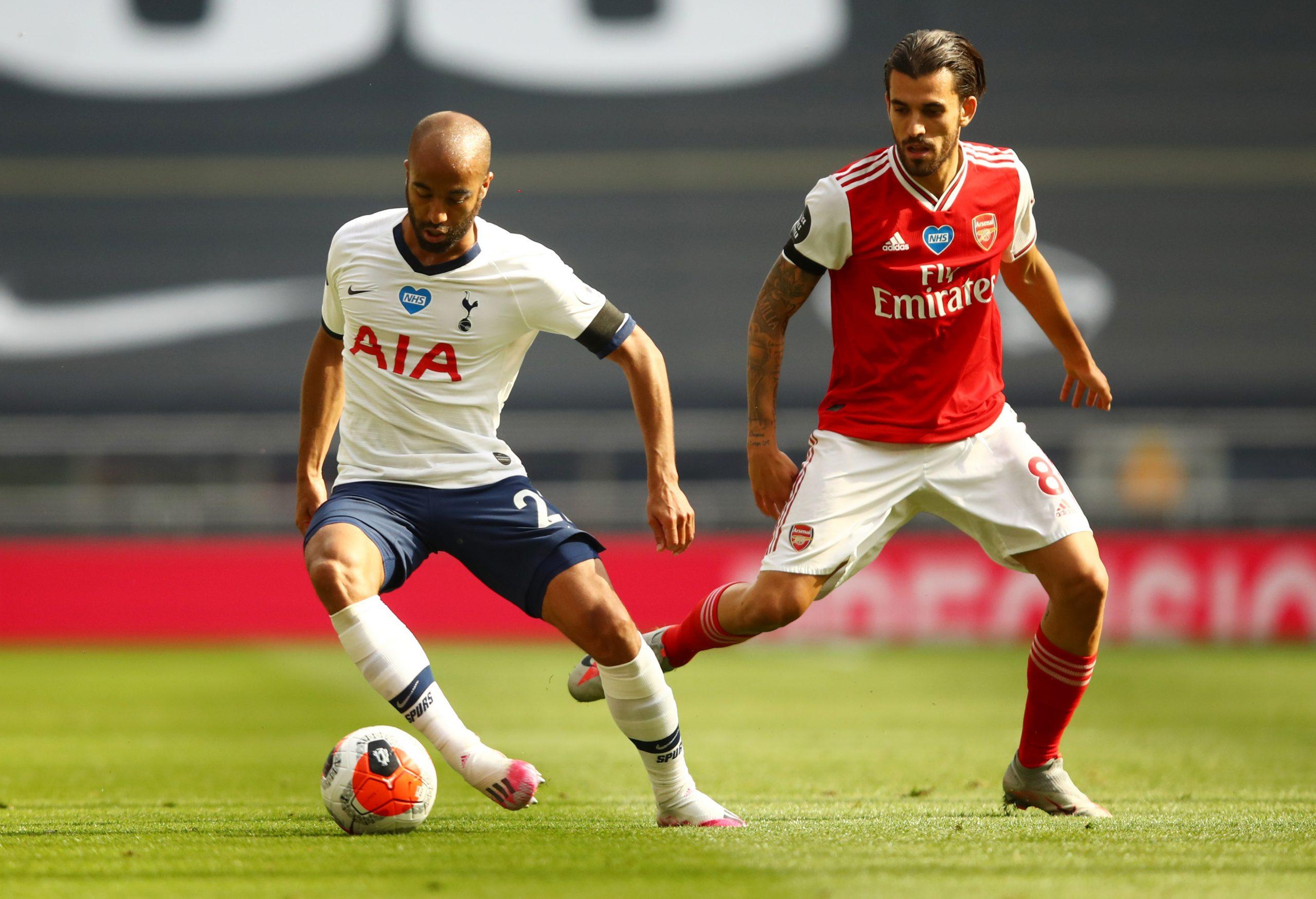 Lucas Moura (Tottenham) i Dani Ceballos (Arsenal)/Foto REUTERS