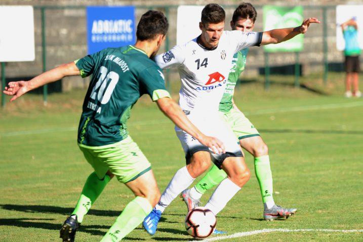 Antonio Pejanović tijekom prve utakmice u Petrinji/Foto Arhiva NL