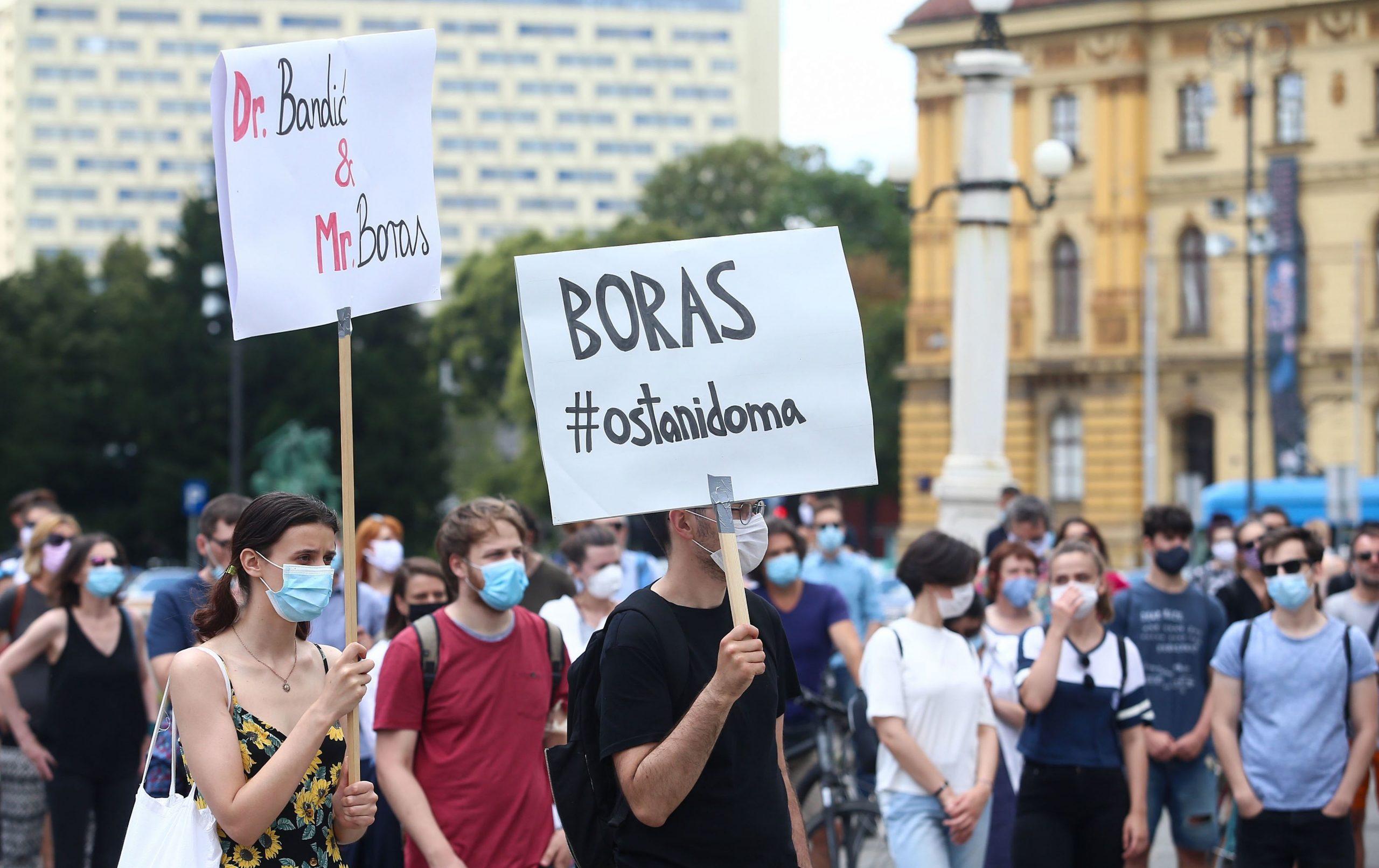 Prosvjed studenata Filozofskog fakulteta / Foto Matija Habljak/PIXSELL