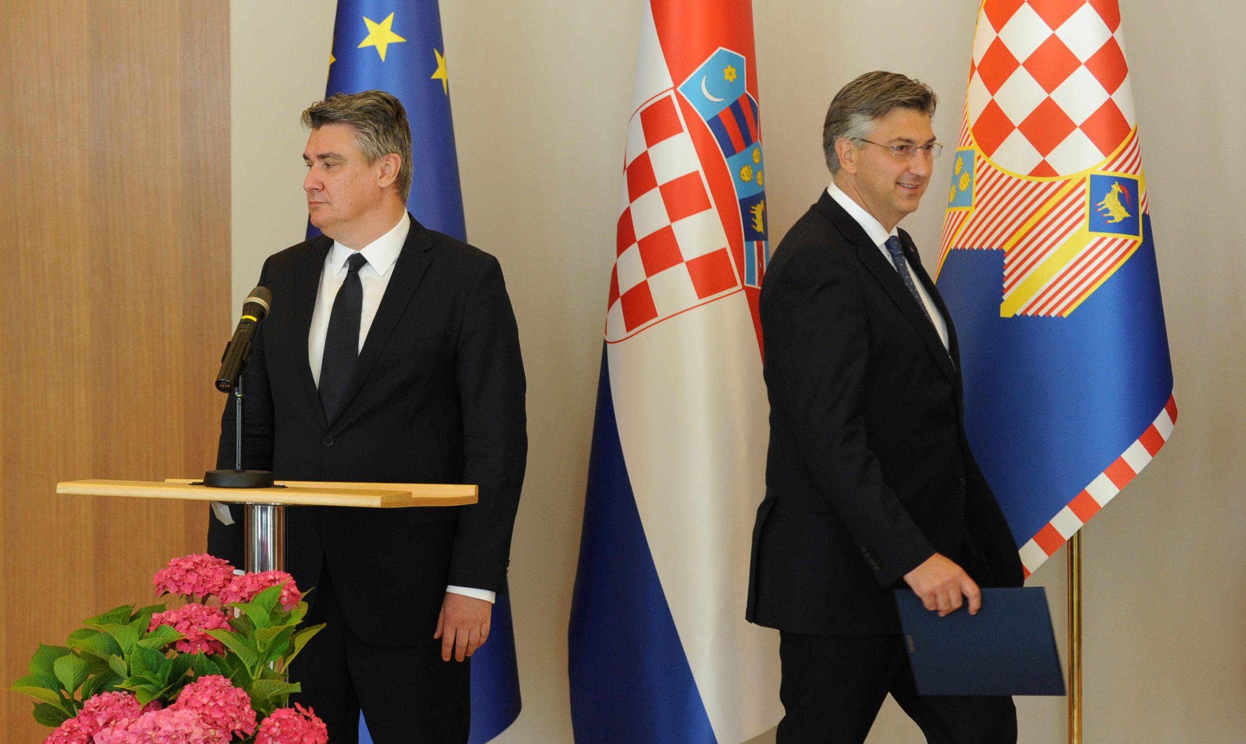 Zoran Milanović i Andrej Plenković - Foto: Darko JELINEK