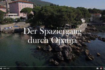 Prvi vlog o Opatiji objavljen je na YouTubeu i Facebook stranicama TZ-a za njemačko govorno područje