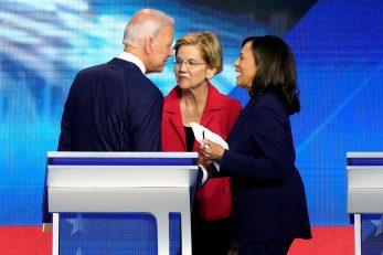 Joe Biden, Elizabeth Warren i Kamala Harris / REUTERS