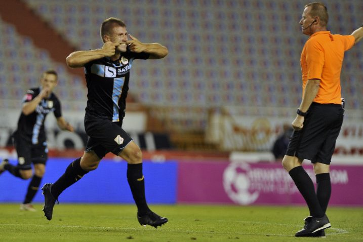 Nino Galović slavi pobjednički pogodak/Foto R. BRMALJ