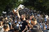 Slavlje nogometaša i navijača Lokomotiva nakon osvajanja Kupa/Foto Instagram
