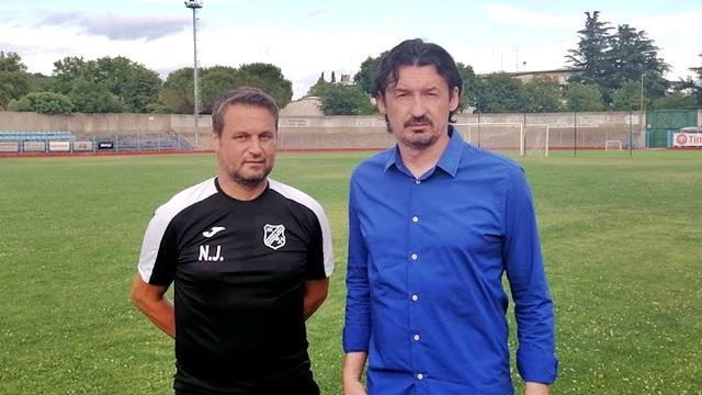Sportski direktor Rudara Nedjeljko Josipović i Elvis Brajković/Foto NK Rudar