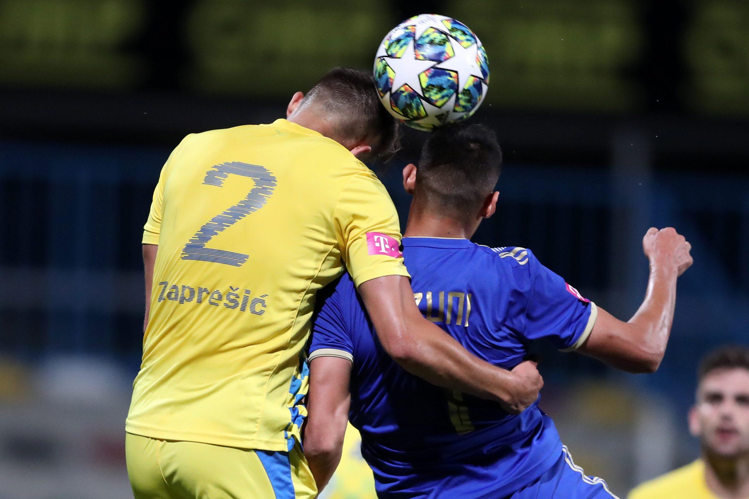 Matija Rom (Inter) i Myrto Uzuni (Lokomotiva)/Foto PIXSELL