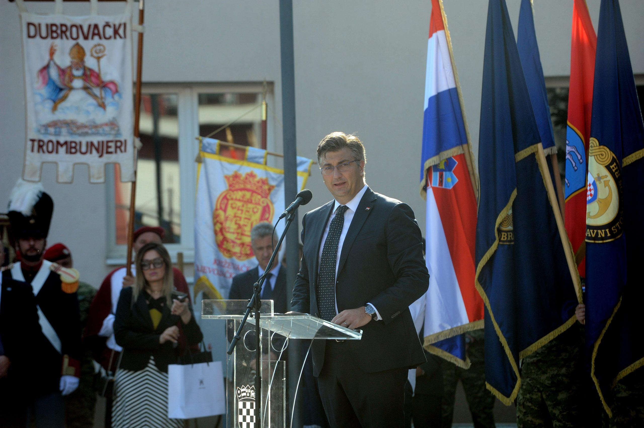 Andrej Plenković u Kninu / Foto: D. KOVAČEVIĆ
