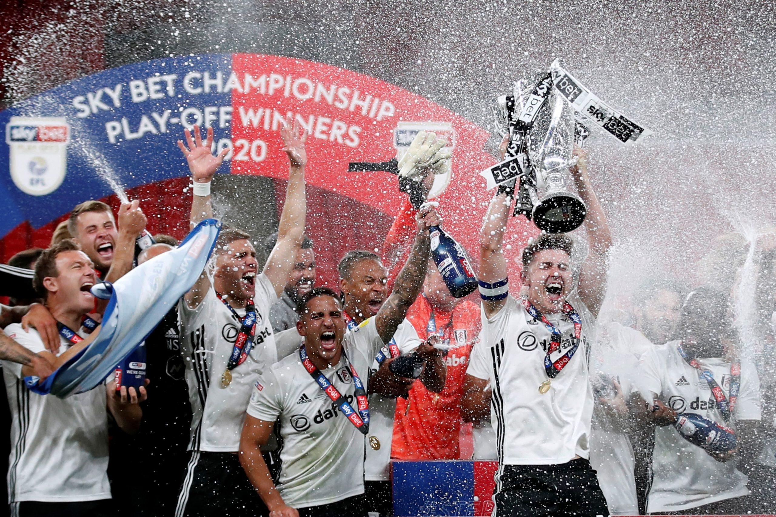 Slavlje nogometaša Fulhama na Wembleyu/Foto REUTERS