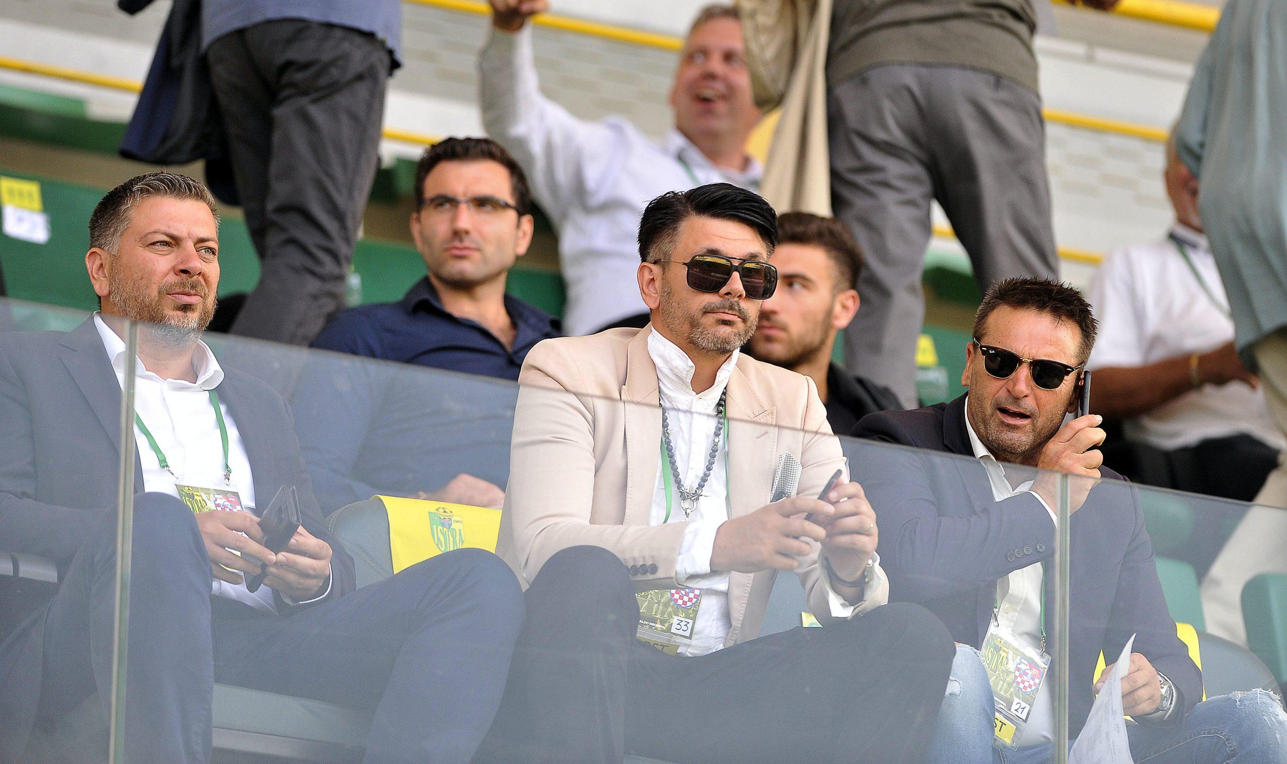 Saša Matijaš u loži stadiona Aldo Drosina/Foto R. BRMALJ