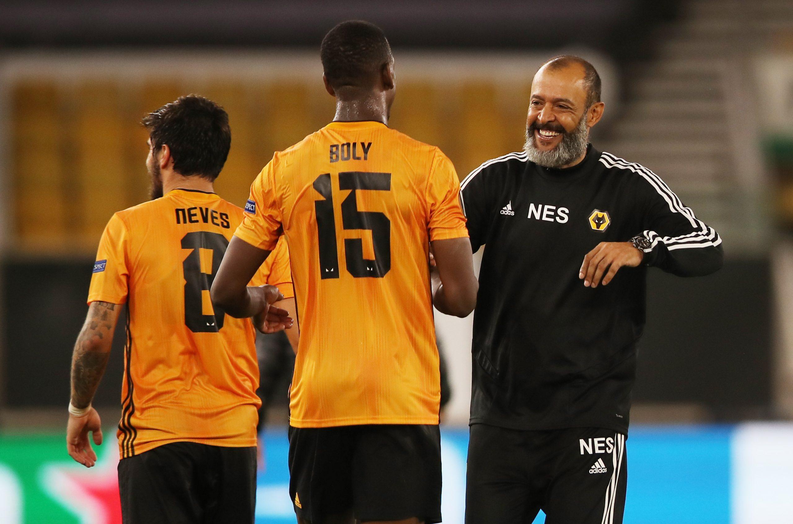 Willy Boly i trener Wolvesa Nuno Espirito Santo/Foto REUTERS