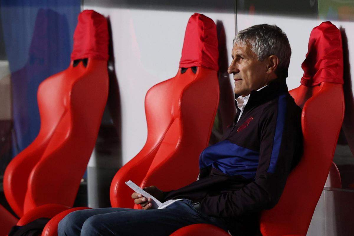 Trener Barcelone Quique Setien/Foto REUTERS