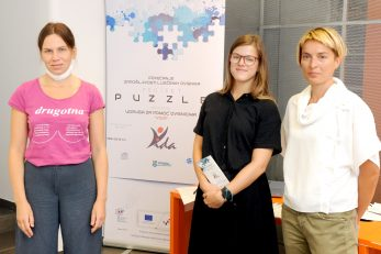 Projekt predstavile Greta Grakalic Rački, Karla Glažar i Ivona Mladina / Foto M. GRACIN