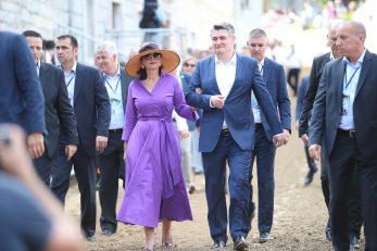 Predsjednik Milanović sa suprugom u Sinju / Ivo Cagalj/PIXSELL