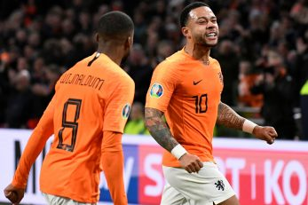 Memphis Depay u dresu Nizozemske/Foto REUTERS
