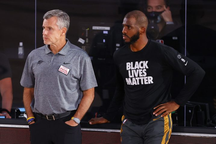 Billy Donovan i Chris Paul/Foto REUTERS