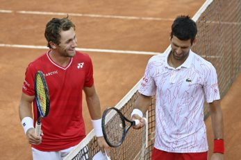 Novak Đoković i Casper Ruud/Foto REUTERS