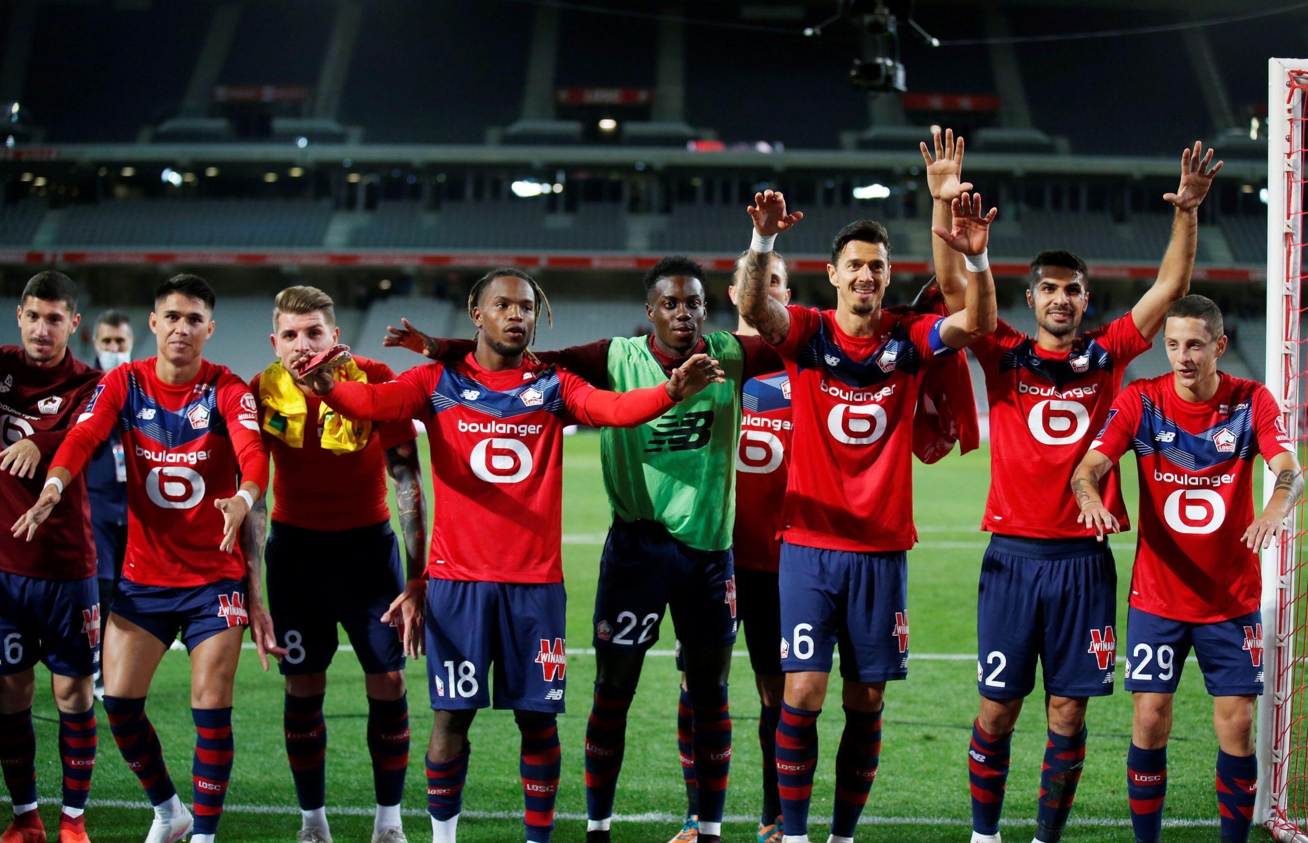 Slavlje nogometaša Lillea nakon pobjede/Foto REUTERS