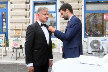 Dodjela odličja Republike Italije: Igor Koren i David Bradanini / Snimio V. Karuza