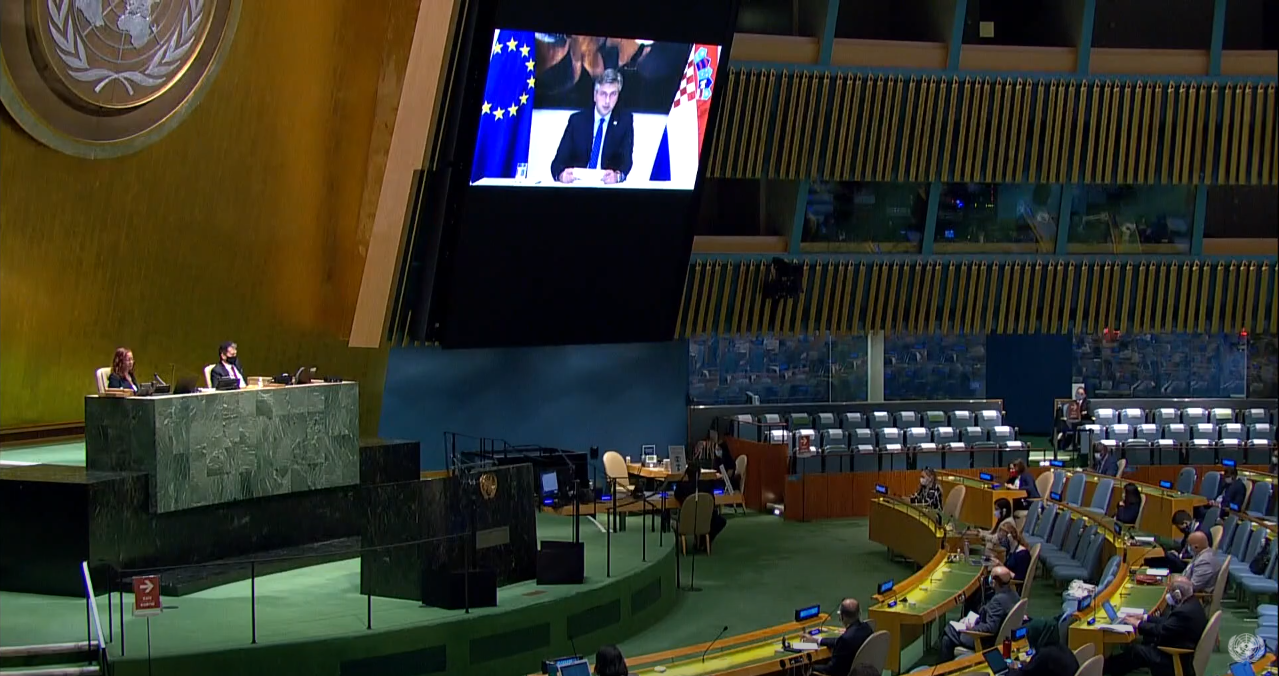 Plenković videolinkom u UN-u