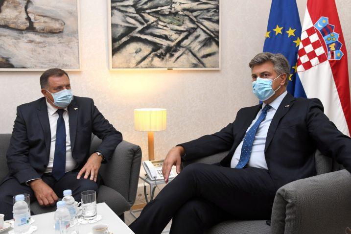 Milorad Dodik i Andrej Plenković / Foto Josip Regovic/PIXSELL