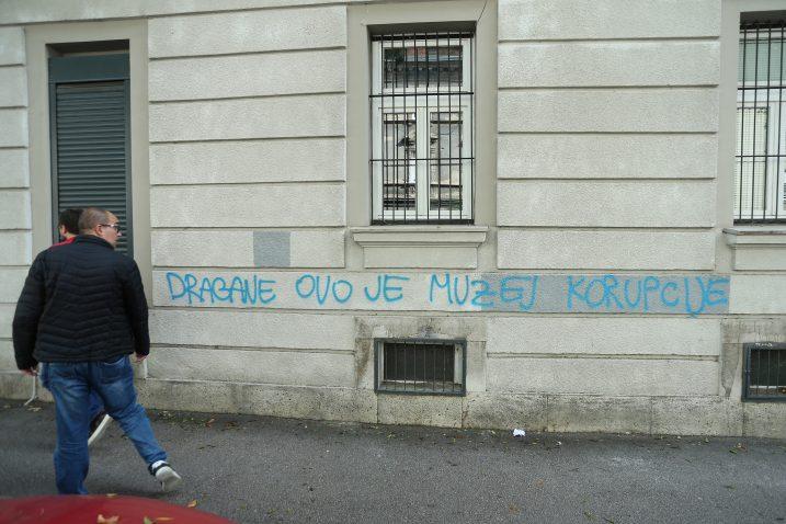 Grafit na klubu Dragana Kovačevića / Foto Marko Prpic/PIXSELL
