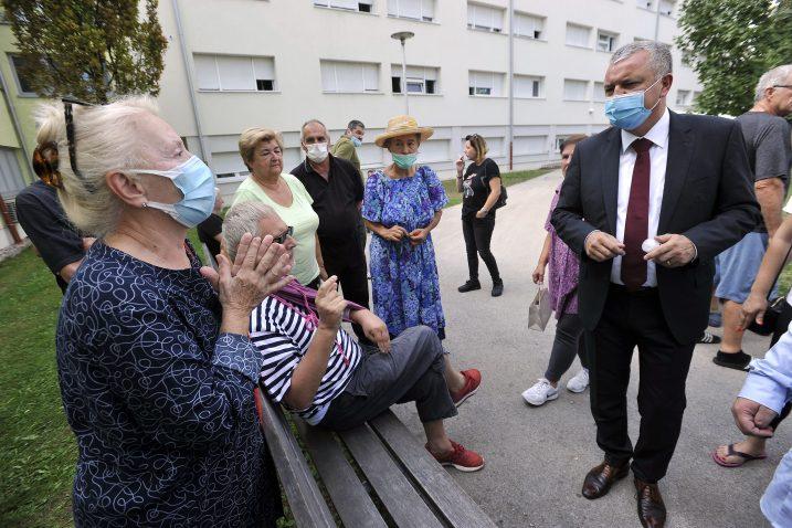 Darko Horvat u Cvjetnom naselju / Foto Davor KOVAČEVIĆ