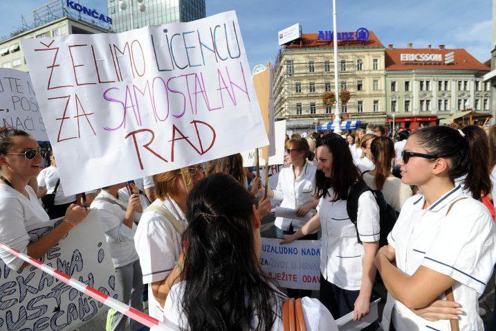 S prosvjeda pripravnika 2012. godine / Foto Davor Kovačević