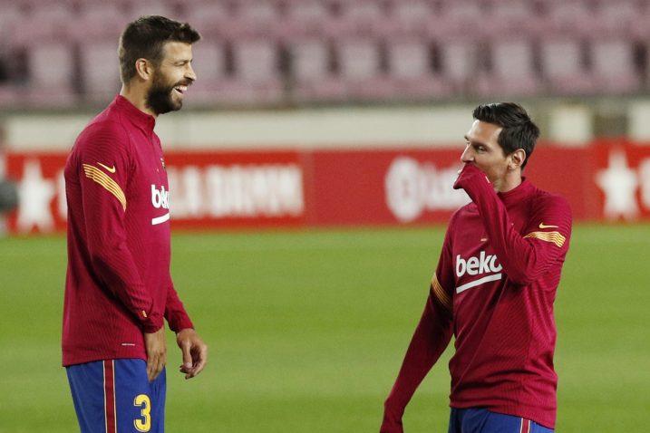 Gerard Pique i Leo Messi/Foto REUTERS